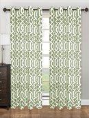 Online Designer Living Room Tori Geometric Grommet Single Curtain Panel