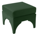 Online Designer Bedroom Maude Pillow-Top Ottoman, Fauxmo Emerald