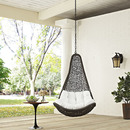 Online Designer Bedroom ABATION OUTDOOR PATIO SWING CHAIR WITHOUT STAND IN GRAY WHITE