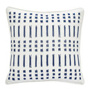 Online Designer Living Room Amalfi Stripe Square Embroidered Cotton Throw Pillow by Under the Canopy