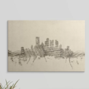 Online Designer Living Room 'Pittsburgh Pennsylvania Skyline Sheet Music Cityscape'