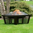 Online Designer Dining Room Hudson Steel Wood Burning Fire Pit