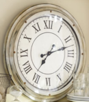 Online Designer Living Room White Station Clock