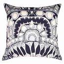 Online Designer Living Room Totem Silver Navy Lounge Cushion