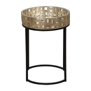 Online Designer Bedroom Round Puzzle Top Side Table