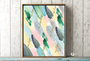 Online Designer Bedroom Colorful Abstract Watercolor Painting