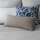 Online Designer Combined Living/Dining Pleated Linen Decorative Pillow