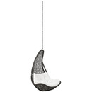 Online Designer Patio ABATION OUTDOOR PATIO SWING CHAIR WITHOUT STAND IN GRAY WHITE