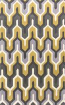 Online Designer Bedroom Cosmopolitan Rug - Yellow + grey