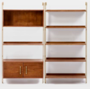 Online Designer Living Room Linden Mid-Century Wall Shelf Set with Storage
