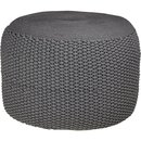 Online Designer Living Room criss knit grey pouf