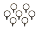 Online Designer Combined Living/Dining Set of 7 Bronze Curtain Rings