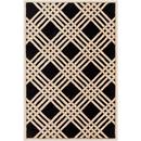 Online Designer Combined Living/Dining Black Beige Pattern Rug