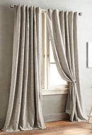 Online Designer Combined Living/Dining DKNY Front Row 95-Inch Back Tab Window Curtain Panel
