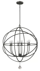 Online Designer Combined Living/Dining GREGOIRE 6-LIGHT CANDLE-STYLE CHANDELIER