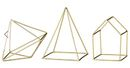 Online Designer Bedroom 3 Piece Gold Iron Decorative Sculpture Set