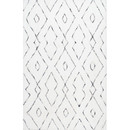Online Designer Kitchen Peraza Hand-Tufted White Area Rug by Mercury Row
