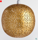 Online Designer Home/Small Office Matte Gold Lattice Orb Priya Pendant Shade