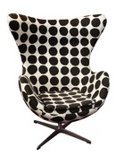 Online Designer Living Room Replica Arne Jacobsen Egg Chair – Black Dot