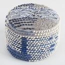 Online Designer Combined Living/Dining Indigo Blue Wool Boho Pouf