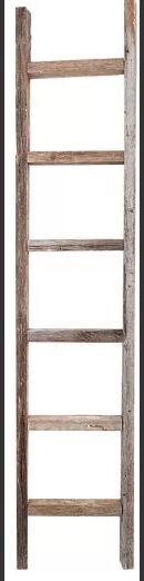 Online Designer Living Room Wood 6 ft. Decorative Ladder