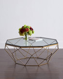 Online Designer Living Room Mystique Glass-Top Coffee Table