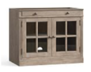 Online Designer Living Room Double Glass Door Cabinet