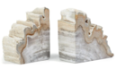Online Designer Home/Small Office  S/2 Petrified-Wood Bookends, Light Wood