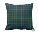Online Designer Living Room Stewart Hunting Tartan Green and Blue Plaid Throw Pillow (cotton 20 x 20)
