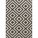 Online Designer Home/Small Office Alfresco Hand-Woven Black / Beige Area Rug