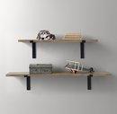 Online Designer Bedroom INDUSTRIAL PLANK SHELF & BRACKETS SET - NATURAL
