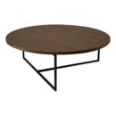 Online Designer Living Room Felicity Round Coffee Table - Walnut, Matt Black