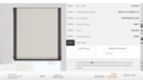 Online Designer Living Room FLAT ROMAN SHADES (LEFT & RIGHT WINDOWS)