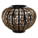 Online Designer Living Room Dark Iron and Rope Vase