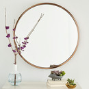 Online Designer Combined Living/Dining Metal Framed Round Wall Mirror