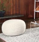 Online Designer Living Room Wool Wrap Natural Pouf