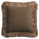 Online Designer Hallway/Entry Confetti Fringe Brown Pillow