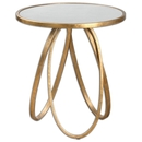 Online Designer Combined Living/Dining Loop Gold Accent Table