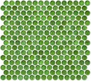 Online Designer Bathroom Penny Round Green Iridescent Glass Tile