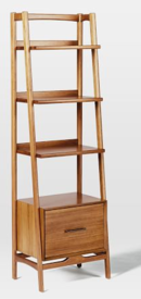 Online Designer Living Room Mid-Century Bookshelf - Narrow Tower