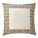 Online Designer Combined Living/Dining Athena Key Zardozi Pillow Cover, White