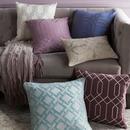 Online Designer Living Room Beige Geometric Design Pillow