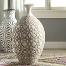 Online Designer Combined Living/Dining Tall Ivory Earthenware Floor Vase