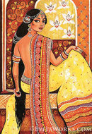 Online Designer Home/Small Office Bahrat, Indian woman painting