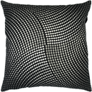 Online Designer Living Room Black Textured Pillow