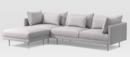 Online Designer Combined Living/Dining Halsey 3-Piece Sectional
