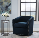 Online Designer Combined Living/Dining Tyler Roma Navy Swivel Chair