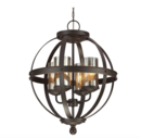 Online Designer Combined Living/Dining Tuscany 4-Light Globe Chandelier