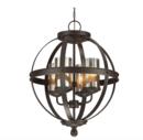 Online Designer Combined Living/Dining Tuscany 4-Light Globe Chandelier