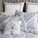 Online Designer Bedroom Reese Blue Full/Queen Duvet Cover
